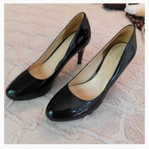 Cole Haan platform pumps, patent black 9.5